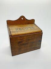 New listing Vintage Recipe Box Wood Wall Hanging Japan Lid