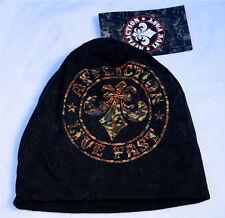 Affliction - DIVIO CAMO Beanie - Men's Cotton Hat - NEW - Black