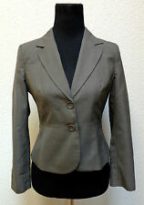 PETITE SOPHISTICATE WOMENS JACKET/BLAZER SZ 2P BROWN,BUTTON UP,LS