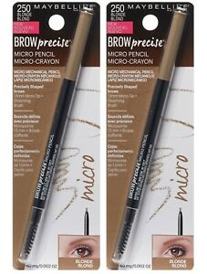 2x Maybelline Brow Precise By Eyestudio Shaping Pencil, 250 Blonde