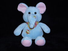 PRIMARK BLUE ELEPHANT SOFT TOY PATCHES COMFORTER DOUDOU PLAY AND LEARN
