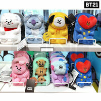 BTS BT21 Official Authentic Goods Plush Cross bag By LINE FRIENDS + Tracking #