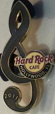 Hard Rock Cafe HOLLYWOOD FL 2011 Dark Gold TREBLE CLEF Note PIN - HRC #64817
