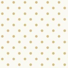 Wallpaper Fun Large Gold Dot on Eggshell White Background