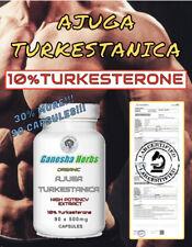 AJUGA TURKESTANICA High Potency  Extract 10%TURKESTERONE 90 x 400mg Capsules