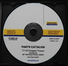 Genuine New Holland T1010 Compact Tractor Amp 230gm Mower Parts Catalog Manual