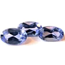 NATURAL OVAL-CUT  VIOLET BLUE TANZANITE LOOSE GEMSTONE 3 pieces - 5 x 3 mm  LOT