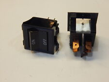 SQUARE BLACK ROCKER SWITCH ON-OFF 15A 125V 250V AC - YOU GET 2 PIECES