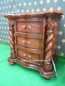 1 x UK STOCK Tudor Style Mahogany Bedside table ( More available )