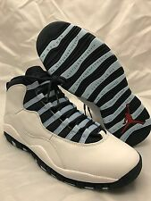 NEW DS Nike Air Jordan X 10 Retro 2005 Mens Size 11 Obsidian Ice Blue 310805 141