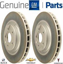 Pair Set of 2 Front Brake Disc Rotors Genuine for Buick Chevrolet Camaro Pontiac