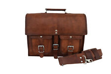 leather briefcase messenger bag 13 Inch MacBook satchel shoulder crossbody bag