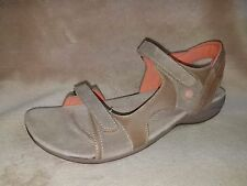 HUSH PUPPIES Zendal Sandals Taupe Strap Size Women's 12 M New Defect