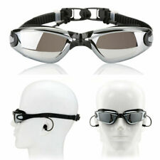 Silver Swimming Goggles Swim Glasses Anti Fog UV Protection for Adult Men Women