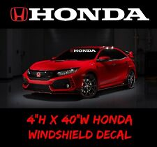 HONDA Windshield Window, sport Decal Vinyl Sticker Race turbo, civic accord sol