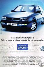 Publicité advertising 1997 VW Volkswagen Golf Match II