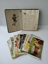 1930s-40s Dutch Handwritten Autograph Book Postcards Estate Schermele Cinderella
