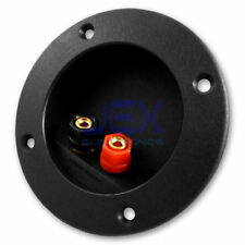 Round Recessed Speaker Binding Post Terminal Connector Plate for Subwoofer