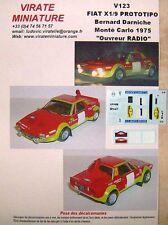 V123 FIAT X1/9 PROTOTIPO ABARTH OUVREUR RALLYE MONTE CARLO 1975 DARNICHE VIRATE