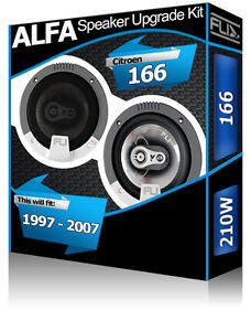 Alfa Romeo 166 Portellone Posteriore Altoparlanti FLI Audio Auto Kit 210W