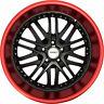 4 GWG Wheels 20 inch Black Red Lip AMAYA Rims fits BMW 5 SERIES (F10) 2011-2018