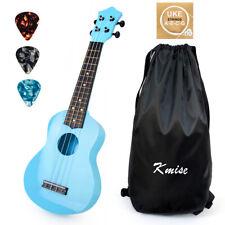 More details for soprano ukulele 21 inch chrismas toy for kids abs blue uke w/ bag picks string