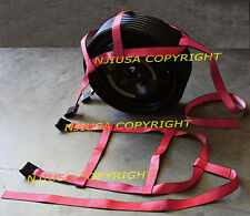 FOUR (4x) PINK Car Basket Straps Adjustable Tow Dolly DEMCO Wheel Net Flat Hook