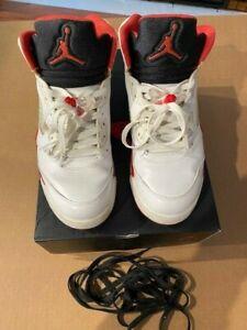 Nike Air Jordan 5 V Retro 136027-120 Fire Red 2013 Size 9.5  With Original BOX