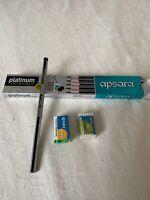 Apsara Platinum  Extra Dark Pencils - Pack of 10 Free Sharpener And Eraser In