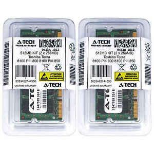 512MB KIT 2 x 256MB Toshiba Tecra 8100 PIII 800 850 8200 PIII 750 Ram Memory