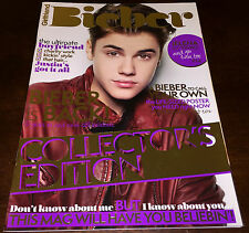 JUSTIN BIEBER GIRLFRIEND COLLECTOR'S EDITION MAGAZINE HUGE POSTERS SEXY PURPOSE