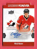 2016-17 Mitch Marner Upper Deck Team Canada Juniors Auto Maple Leaf Forever