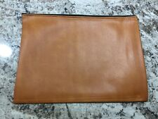 LARGE BROWN VINYL ZIPPERED DOCUMENT FOLIO POUCH BANK BAG LOUISIANA N.O.S KENNER