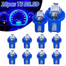 Brand New 10pcs T5 B8.5D 5050 1SMD LED Dashboard Gauge Interior Light Bulbs Blue