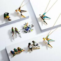 Sweet DIY Sping Crystal Bids Dragonfly Brooch Pin Badge Women Mother Jewelry