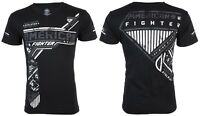 AMERICAN FIGHTER Mens V-neck T-Shirt EAGLEPORT Athletic BLACK Biker Gym $40