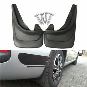 ABS Soft Plastic Body Mud Flaps Splash Guard for Car SUV Truck Fender 4Pcs Black