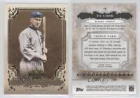 2013 Topps Triple Threads Gold #75 Ty Cobb Detroit Tigers Baseball Card