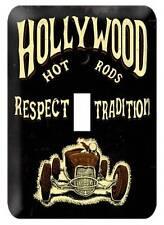 Hollywood Hot Rod Shop Light Switch Plate Metal Sign Man Cave Garage Club HHR013