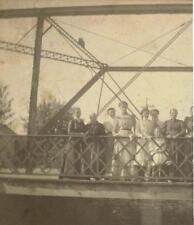 1900 Decorah Iowa: 303 Water Street Bridge Cabinet photo with locals