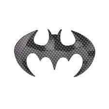 Black Cool Bat Man 3D carbon fiber Flying Bat Badge Sticker Car Logo Emblem MWUK
