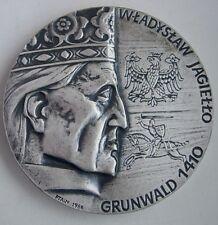 POLISH 1410 TANNENBERG GRUNWALD BATTLE MEDAL Teutonic ORDER table silvered