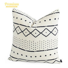 Hofdeco Premium Heavy Weight Cushion Case Boho African Mud Cloth Pillow Cover Natural Dots and Line 50x50cm