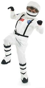 Kids Astronaut Costume Boys & Girls Space Suit Fancy Dress Spaceman Outfit