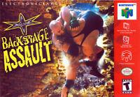 WCW Backstage Assault N64 New Nintendo 64
