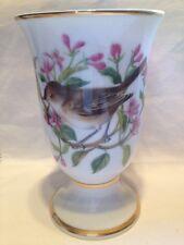 Franklin Mint Song Birds Of Europe Small Vase - Black Cap