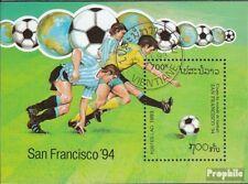 Laos block147 (complete issue) used 1993 Football-WM ´94, U.S.