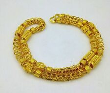 22K YELLOW GOLD NECKLACE HOLLOW CHAIN LINK PIPE CHAIN UNIQUE DESIGN JEWELRY