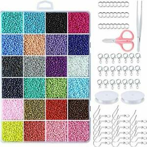 Seed Beads for Jewelry Making Seed Bead Kit Bracelet Making Kit with Small Beads