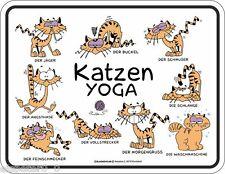 Letrero de metal 17 x 22, Gatos Yoga, Cartel publicitario Art. 3687